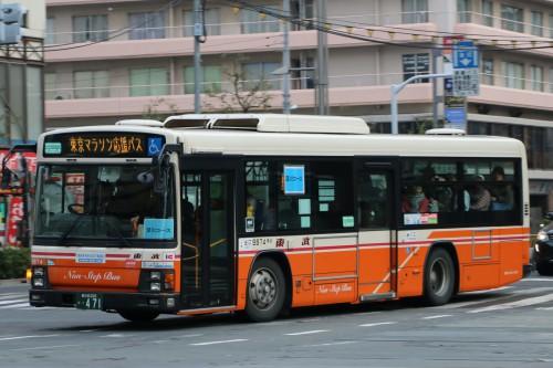 東京マラソン応援バス東武9874