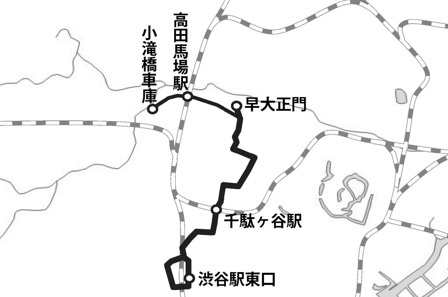 渋谷 駅 から 高田 馬場 駅