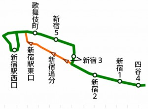 新宿の夜はふけゆく追分廻り