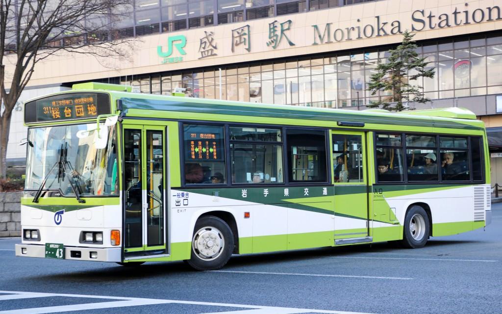 岩手県交通/日野/KL-HR1JNEE