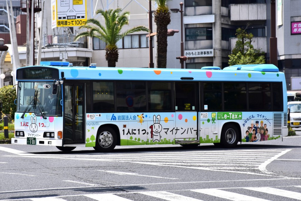 いわくにバス/日野/KL-HR1JNEE
