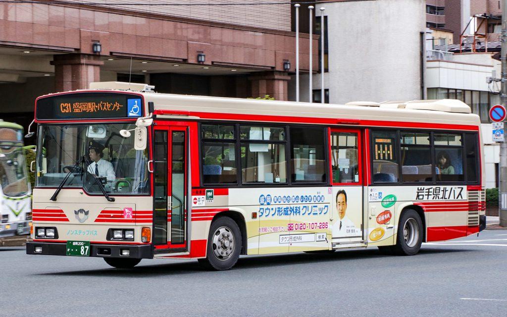 岩手県北バス/日野/KL-HR1JNEE