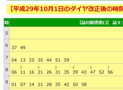 10/1、品川・千住・深川でダイヤ改正