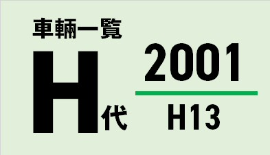 都営バス 平成13/2001年度(H代)車輛一覧