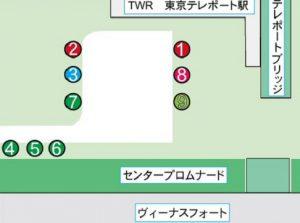東京テレポート駅・国際展示場駅の乗り場変更