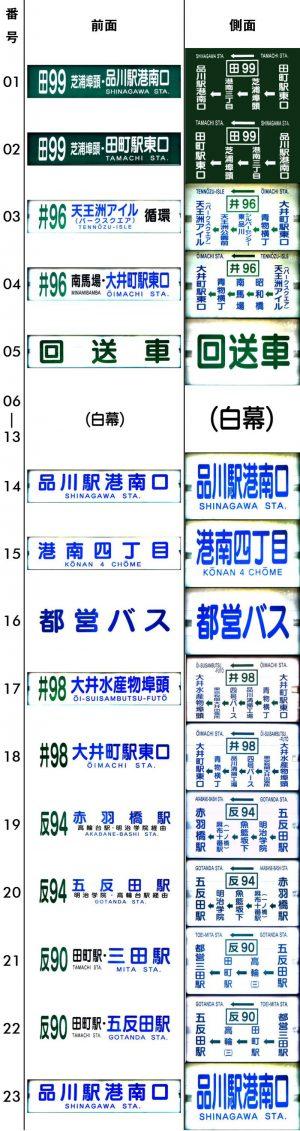 方向幕・港南 平成25年4月~(最終期)