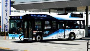 燃料電池バス、今年度末は15輛体制に。営業所のスタンド設置には否定的
