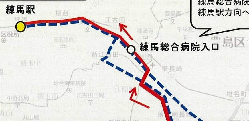 10/1、[練68](目白駅~練馬総合病院入口~練馬駅)が開業