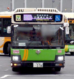 D356、ノンステップバスのステッカーなしの姿に