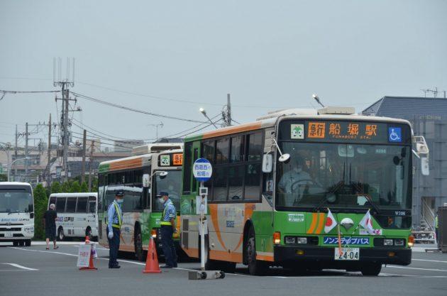 7/16、ボートレース江戸川の競艇バスが運転を再開